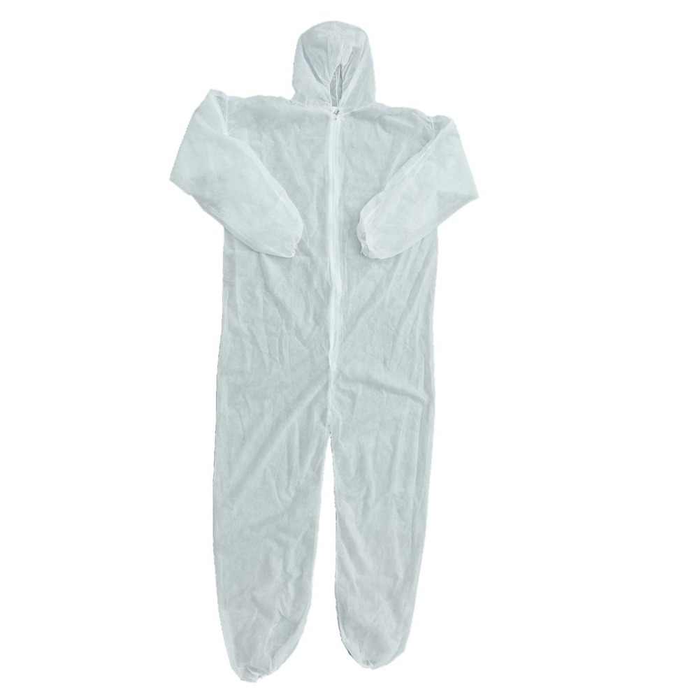 Disposable Coveralls Dust-proof Clothes Man Isolation Clothes White Labour Suit Universal Nonwovens Security Protection Clothing цена
