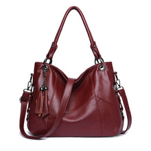 Large Tote Bags for Women 2019 Elegant Leather Handbags Luxury Brand Shoulder Fashion Top-handle