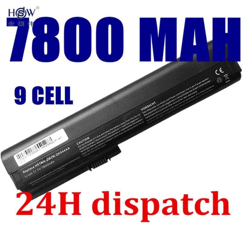 HSW 9 Cells 7800mAh Laptop Battery for HP SX06XL,SX09 for HP EliteBook 2560p,2570p ,HSTNN-UB2L,QK644AA Bateria Akku Hot Sale hsw laptop battery for fujitsu esprimo mobile d9510 x9510 x9515 x9525 for fujitsu celsius mobile h265 h270 bateria akku