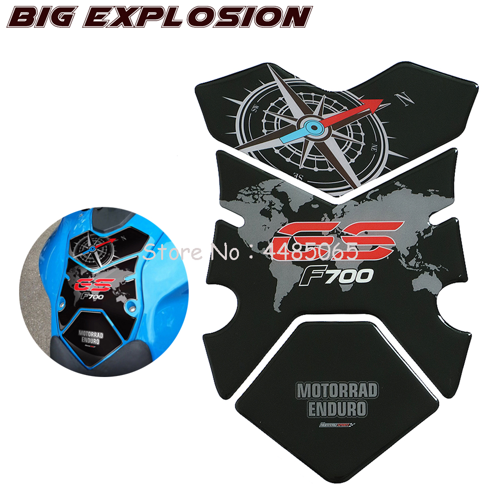 Motorcycle Stickers 3D Stickers Motorcycle Fuel Gas Tank Pad Protector Case For BMW F700GS F700 GS 2012 2013 2014 2015