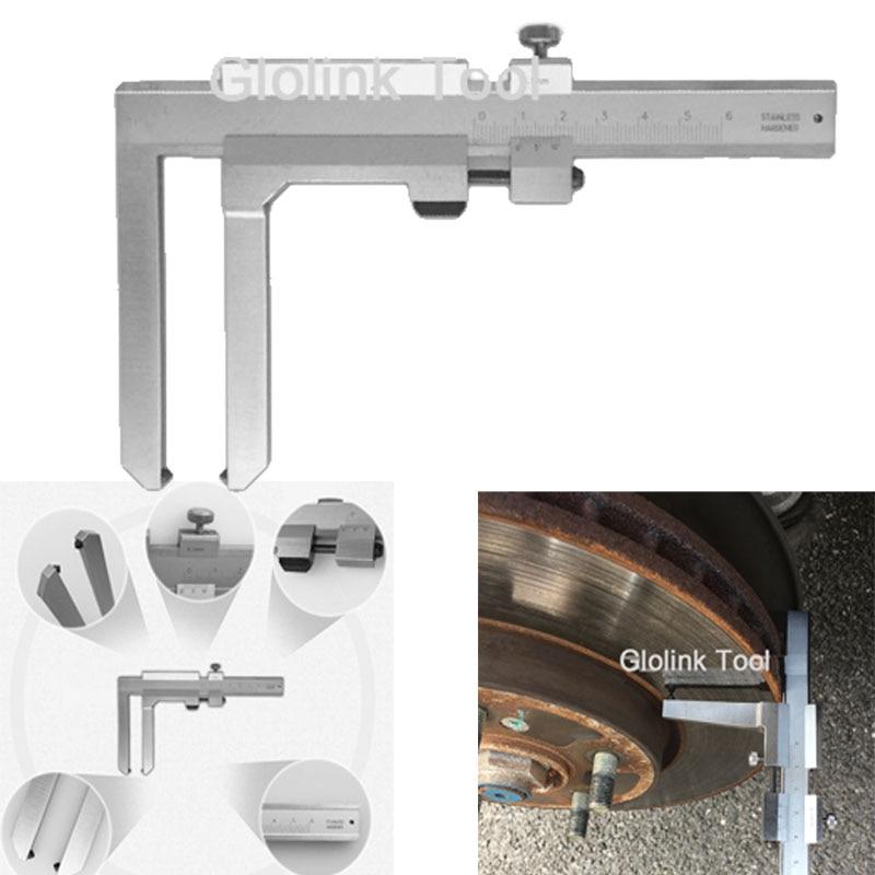 0-50mm Stainless Steel Brake Vernier caliper Thickness Gauge Brake Pads Block Caliper Measurement Tool r1 concepts a42 752215 premier series brake caliper with brake pads
