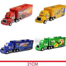 21 Cm Disney Pixar Mobil Mainan Lightning McQueen MACK Paman Truckthe King Chick Hicks Diecast Action Figure Hadiah Ulang Tahun Anak-anak(China)