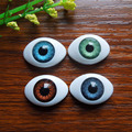 40Pcs(20pairs) Half Plastic Doll Eyes Mixed color BJD EYES, Oval Doll Dollfie Eyes Eyeballs Wholesale 16*22.5mm