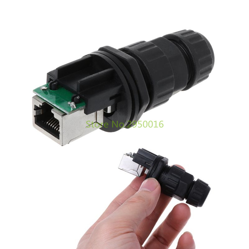 Shielded M25 Rj45 Cat 5e Gigabit Ethernet Waterproof Connector Plug Rj 45 Ap Outdoor Ip Camera Ip68 Water Proof Cable 25cm Computer Cables & Connectors