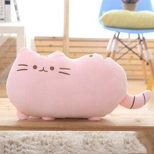 Image 2 - 25*20 Cm Kawaii בפלאש צעצוע חתול כרית כותנה ביסקוויטים בפלאש בעלי החיים בובת צעצועי גדול קריקטורה כרית כרית מתנה