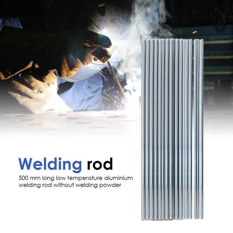 10pcs 500mm Low Temperature Aluminum Welding Rod Electrodes Lightwight Welding Sticks Rods For Surfacing Welding Alloys Silver