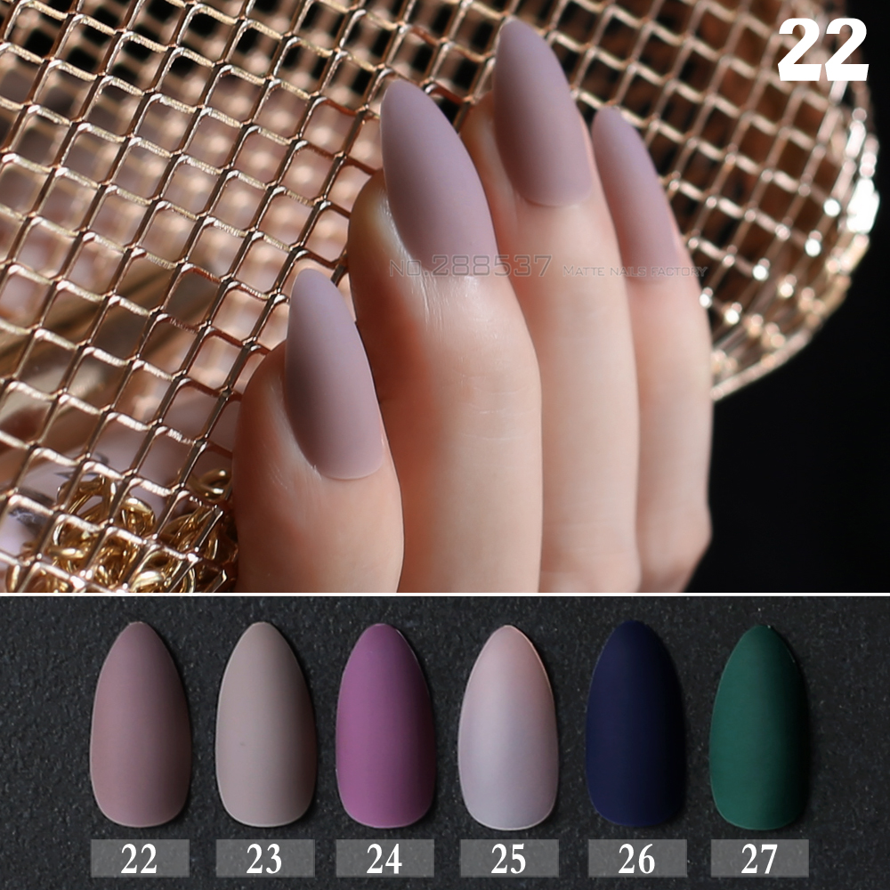 False Nails 24pcs Full Nail Matte Stiletto Nails Flamingo Pink Fake Nails Soft Natural Pointed Manicure Tips Easy To Wear