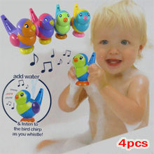 Baby Bath Toy Lovely Bird Shape Whistle Kids Music Instrumental Bath Toy Baby Swimming Water Toys Educational Toys for Children(China)