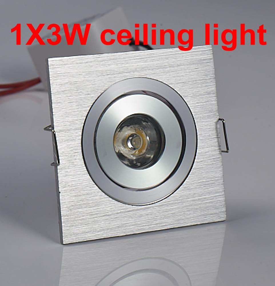 3W baltas / šiltas mini kvadratas 3W Didelės galios šaldytuvas, - Vidinis apšvietimas