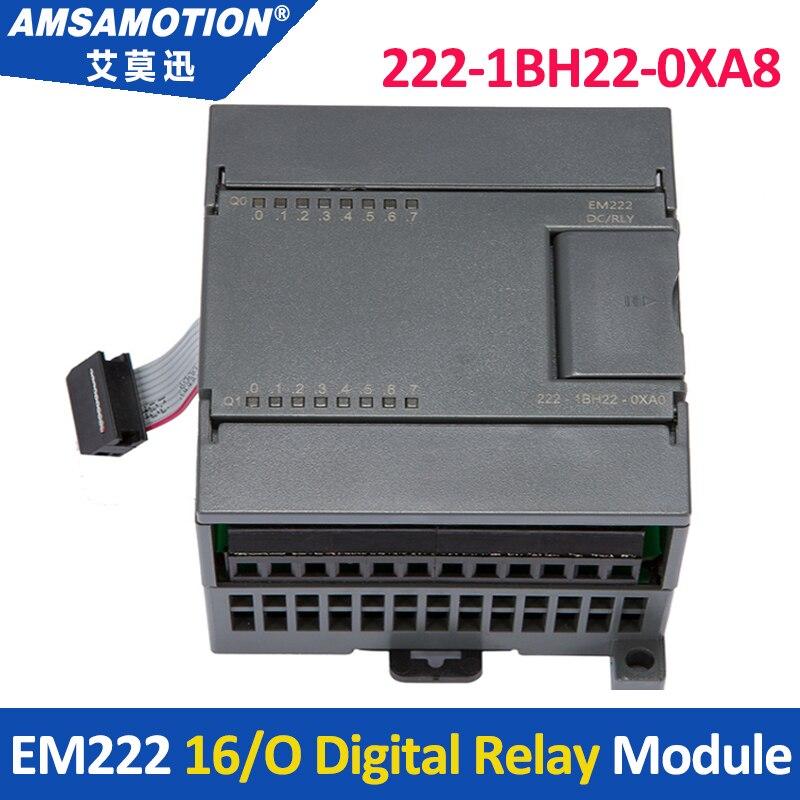Amsamotion EM222  6ES7 222-1BH22-0XA0  16Output 24V DC Digital Module Suitable Siemens S7-200 PLC 6es7223 1bh22 0xa0 6es7 223 1bh22 0xa0 compatible simatic s7 200 plc module fast shipping