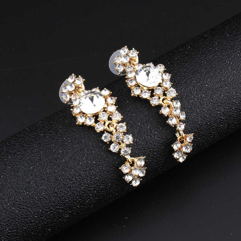 Jiayijiaduo 2017 zestawy biżuterii ślubnej naszyjnik ślubny zestaw dla kobiet akcesoria odzieżowe biżuteria długie kolczyki biżuteria Crystal