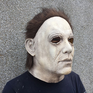 Image 4 - 2018 Hot Movie Halloween Horror Michael Myers Mask Cosplay Adult Latex Full Face Helmet Halloween Party Scary Props toy