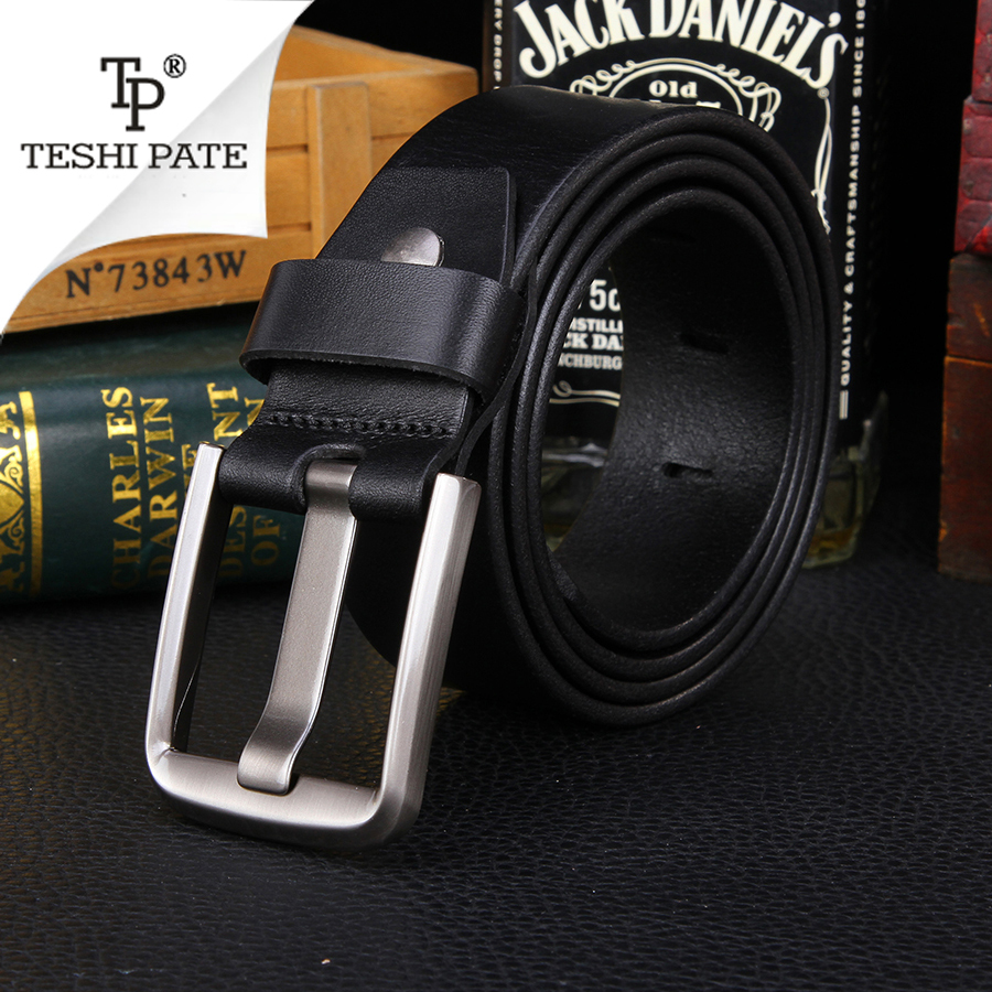 TESHI PATE TP 2018 The New Men Belt Casual Wild Retro Italy First Layer Of Cowhide leather Vintage Business