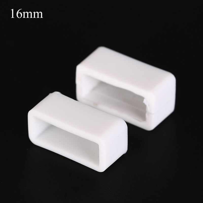 2Pcs Silicone Watch Band Strap Accessories Watchband Small Rubber Loop Holder Locker Support 8 Sizes