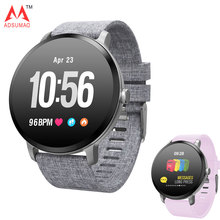 ساعة ذكية V11 IP67 مقاوم للماء الزجاج المقسى النشاط جهاز تعقب للياقة البدنية مراقب معدل ضربات القلب حافة التنفس سوار خفيف الفرقة