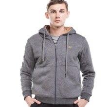 Crocosport Men Jackets Jerseys Warm Sweater Outwear Coat Men Hooded Zipper Jackets Cardigan Men Sports Clothes Slim WY541579
