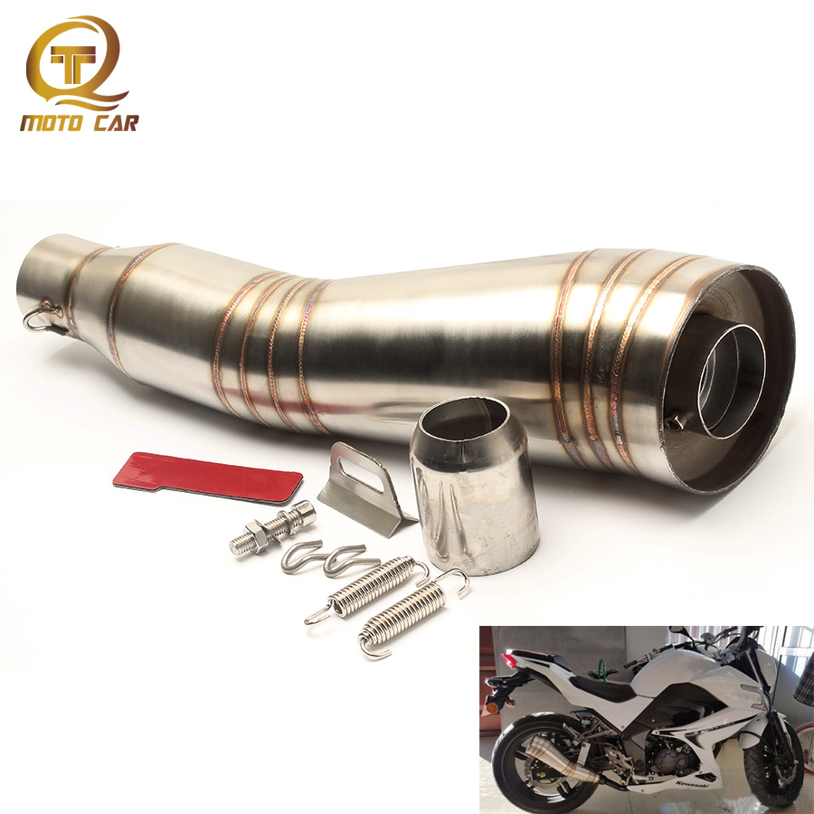 Universal 51mm Modified Motorcycle Exhaust Pipe GP DB Killer Escape MOTO Muffler For Yamaha R1 R3 R6 YZF1 YZF6 XJ6 Mt07 CB400 mokali tubo escape moto universal refires cb400 cbr29 motorcycle modified exhaust end to end exhaust pipe escapamento motocross