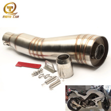 лучшая цена Universal 51mm Modified Motorcycle Exhaust Pipe GP DB Killer Escape MOTO Muffler For Yamaha R1 R3 R6 YZF1 YZF6 XJ6 Mt07 CB400