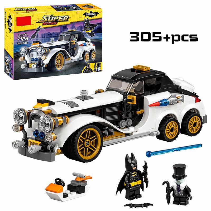 Super Hero Batman dan Joker Batwing Model Blok Bangunan untuk Anak-anak Permainan Anak Laki-laki Mainan Teknik Batu Bata