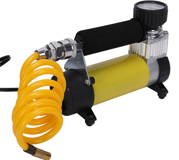 (russia Warehouse) Car Tire Tyre Inflator Portable Metal Vehicle Auto Electric Pump Air Compressor