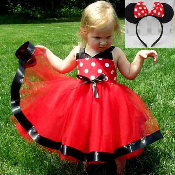 2015 New arrive girl minnie mouse dress with headband summer kids ball gowm red dress tutu ballet girl dress KD 0001-in Dresses from Mother u0026 Kids on ...  sc 1 st  AliExpress.com & 2015 New arrive girl minnie mouse dress with headband summer kids ...