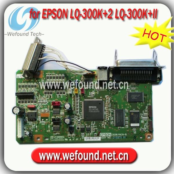 Hot!100% good quality for Epson LQ-300K+2 LQ-300K+II formatter board motherboard alzenit for epson lq 300k 2 300k ii lq 300k ii lq300 ii lq300 2 original used formatter board printer parts on sale