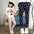 2017 spring and autumn fashion classic children's sports pants girls 4-13 years old cartoon bear love printing children's pants