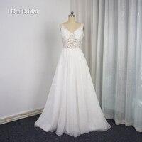 Robe De Mariage Vestido де Novia линия светло кружевные свадебные платья Иллюзия корсет нижней части спины уникальный свадебное платье