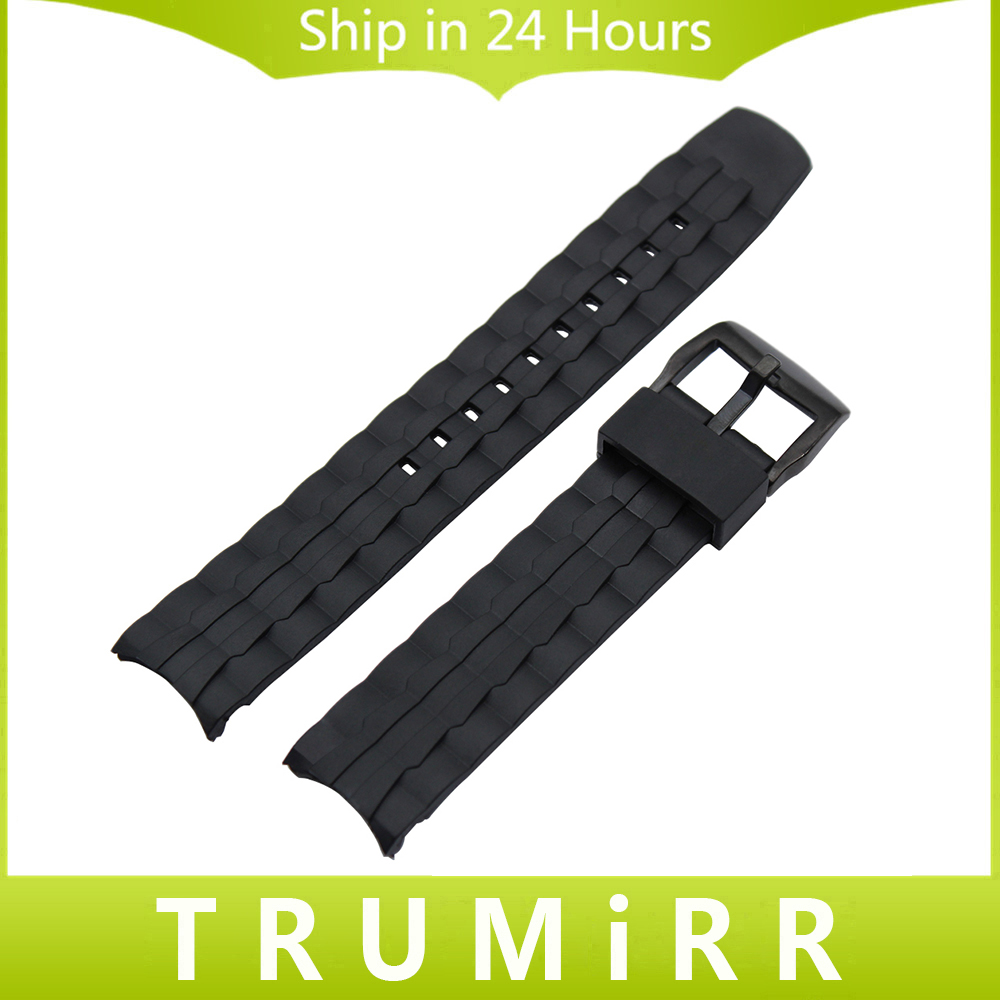 Silicone Rubber Watchband for EF550 EF552 Replacement Watch Band Stainless Steel Buckle Strap Wrist Belt Bracelet Black 20mm 23mm high quality rubber silicone watchband for armani silicone rubber wrapped stainless steel watch strap for ar5906 5890