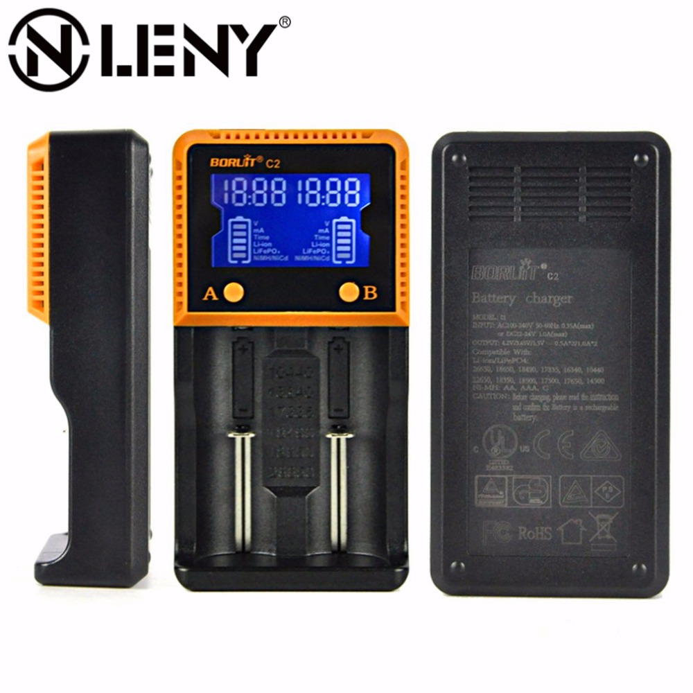 Intelligent LCD HD Display Screen Battery Charger 18650 Lithium Rechargeable Car Charging Batteries Chargers for Li-ion/ Ni-MH
