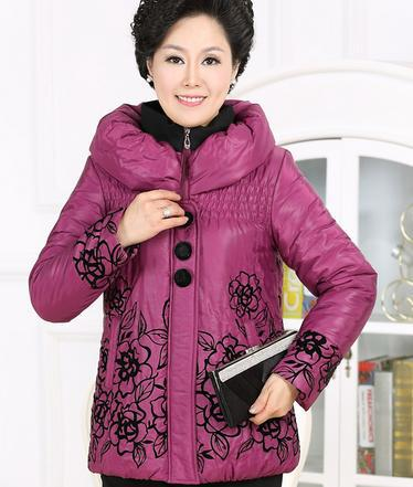 Down Parkas Free shipping middle-aged women warm jacket and long sections of high-end fashion coat 91463 free shipping high quality new design 15 short curly wave blonde wigs for middle aged women with free cap
