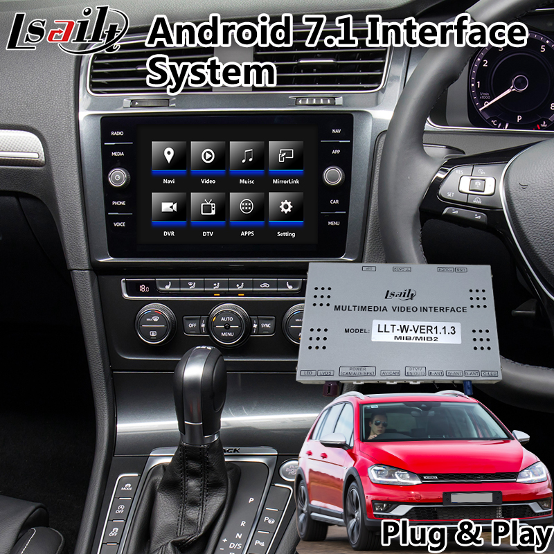 Android 7.1 Interface Car GPS Navigation For Volkswagen Golf 7 / Polo / T-ROC MOB MIB MIB2 System 8 Inch Screen 2014-2020 Year