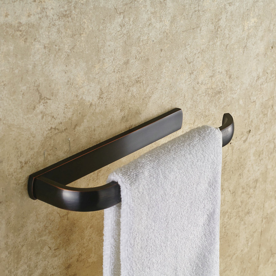 Top Quality Bathroom Accessories Black Single Towel Bars Oil Rubbed ...