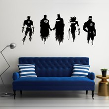 Wall Decal Vinyl Sticker Wonder Woman DC Comics Super Hero Justice League Art Mural Paper For Kids Girls Rooms DIY WW-296