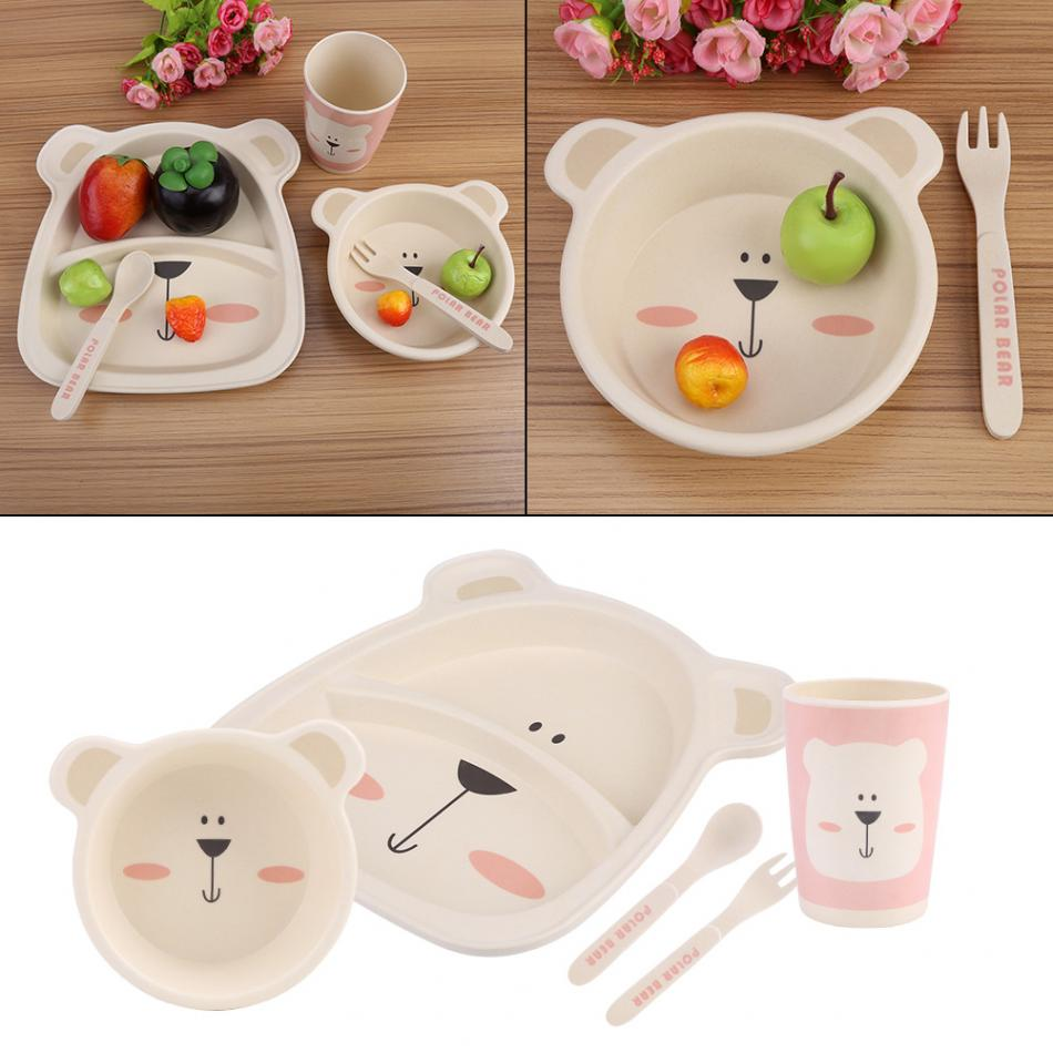 5Pcs Kids Plate Set Bamboo Fiber Cartoon Tableware Dishes Bowl Cup Plates Sets for Infant Baby Feeding Baby dish tableware-in Dishes from Mother \u0026 Kids on ...  sc 1 st  AliExpress.com & 5Pcs Kids Plate Set Bamboo Fiber Cartoon Tableware Dishes Bowl Cup ...