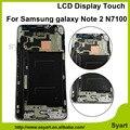 Nova sreen com quadro n7100 tela lcd 100% testado display lcd + substituição da tela de toque acessórios para samsung galaxy note 2