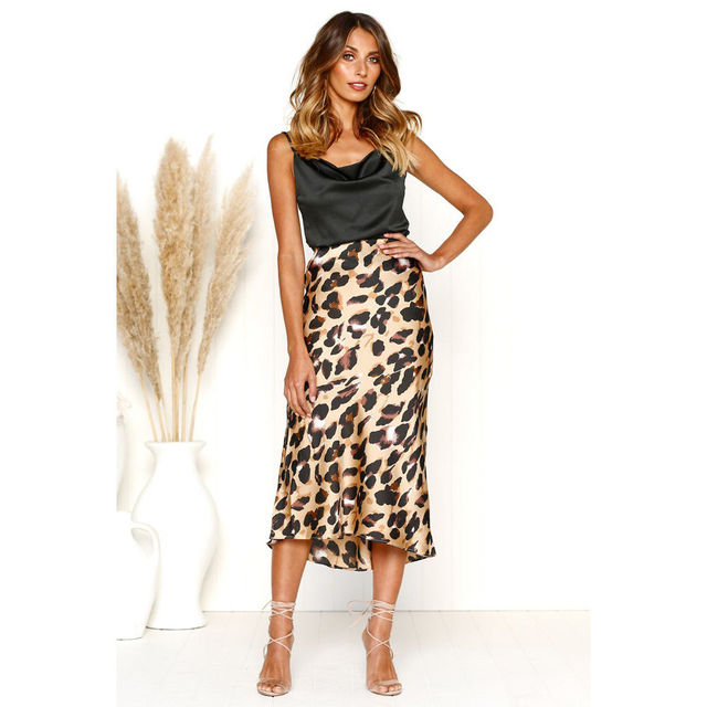 Women High Waist Long Pencil Skirt Slim Bodycon Midi Skirt Leopard Print  Skirt Summer Fashion Women Clothes 517c2cb94