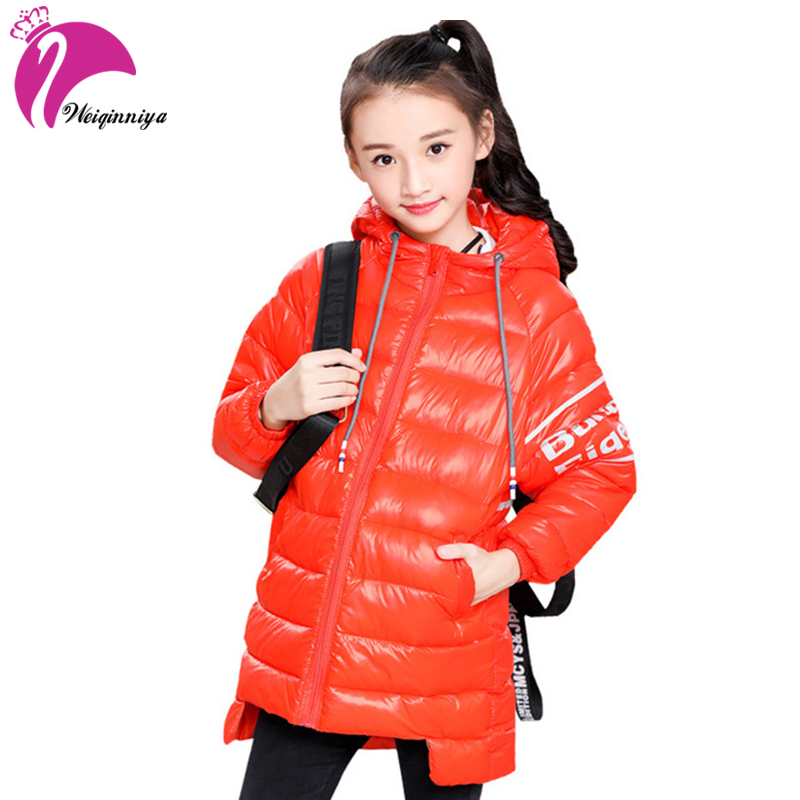 Children's Coats for Girls New 2018 Winter Fashion Hooded Parka Down Warm Kids Clothes Unisex Outwear Abrigos Invierno Ninos Hot