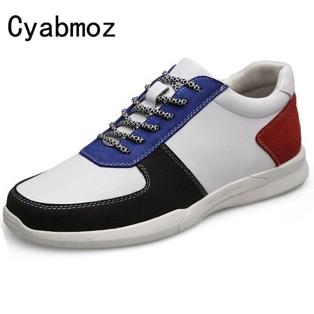 Cyabmoz Brand Casual Mens Sneakers Height Increase Elevator Shoes with Hidden Heel Fashion Lace-up 7CM 5CM zapatos hombre