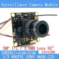 Surveillance Camera 800TVL 1 3 Effio E CCD Sony 811 4140 5148 CCTV Camera Module 3MP