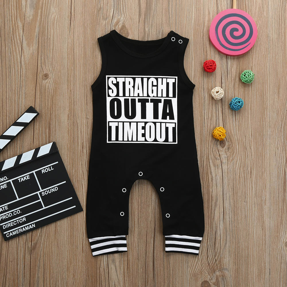 2018 Baby Girls Boys Infant Letter Print Clothes summer children clothing cute Mar27 w20 ...