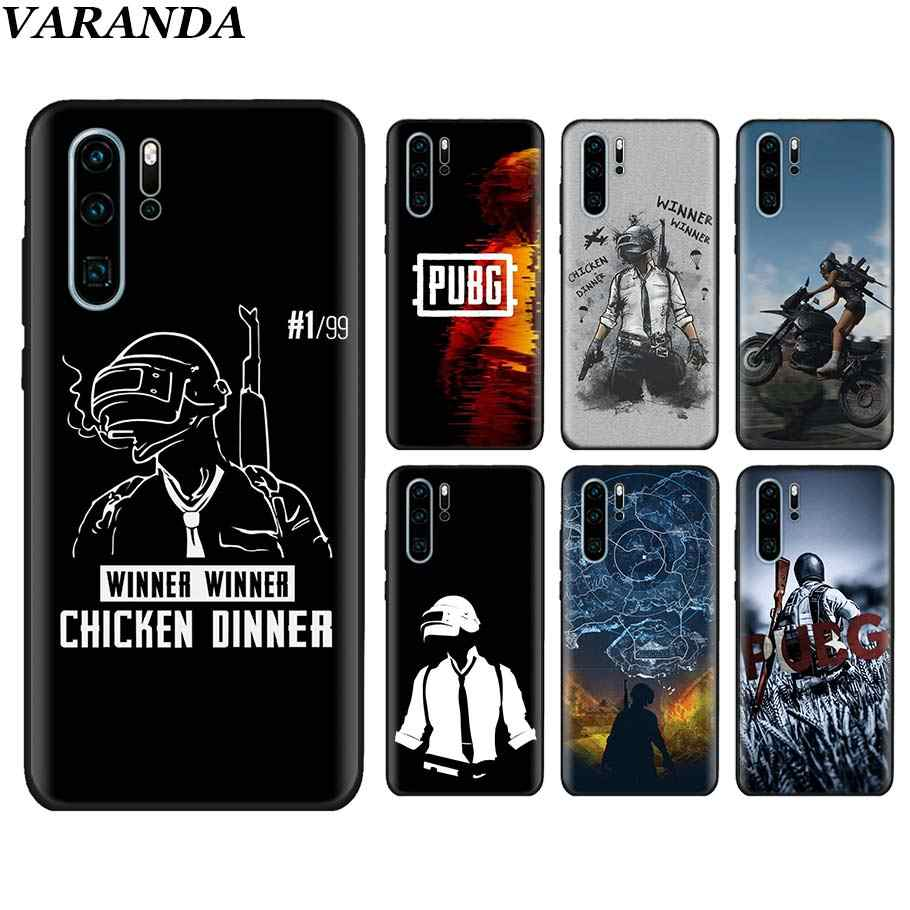PUBG winner chicken dinner Black Soft Cases for Huawei P30 P30 Pro P10 P20 Lite P Smart View 20 Soft Silicone cover coque
