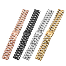 22mm Shiny Diamond Butterfly buckle Stainless Steel Replacement Bracelet Strap for Samsung Gear S3 Frontier / Classic Watch Band стоимость