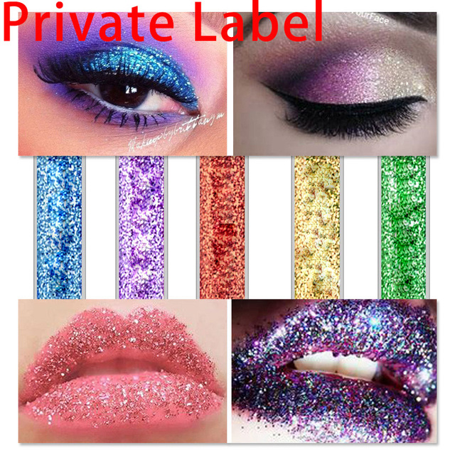 US $897 0 |Aliexpress com : Buy Private label minimum and price as shown on  store NO LOGO tube blank neutral diamonds pearlescent eye shadow liquid
