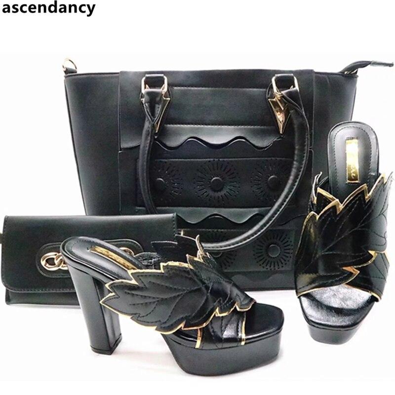 kaffee Schuhe Für Nigerian rot Hochzeit Party Schwarzes Passenden Set In Frauen Italienischen Schuh Und Tasche fuchsia Verkäufe CtPaqwSxSg