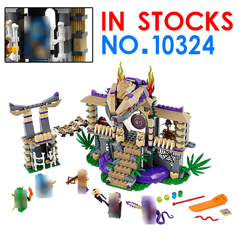 Ninja Enter The Serpent BELA 10324 Building Blocks Figuras Juguetes Assembling Toys for Kids figureS