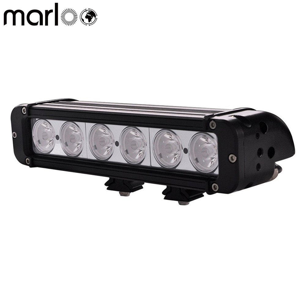 Marloo 60W 11inch LED Light Bar SUV ATV Truck LED Bar Fog Light Single Row For Offroad LED Driving Lamp LED Work Light Bar 43inch led light bar 200w single row led work light combo offroad 4x4 led bar light car fog driving lamp for ford f150 f250 f350