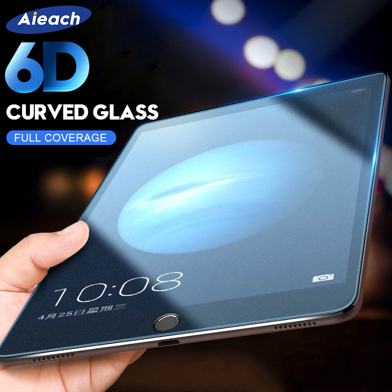 6D Curved Edge Screen Protector For iPad Pro 11 10.5 Tempered Glass On The For iPad 10.2 2019 2017 2018 9.7 Air 1 2 3 mini 4 5|Tablet Screen Protectors| |  - title=
