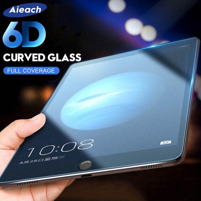 6D borde curvado Protector de pantalla para iPad Pro 10,5, 9,7 funda protectora de vidrio templado en El para iPad 2017 de 2018 aire 1 2 mini 2 3 4