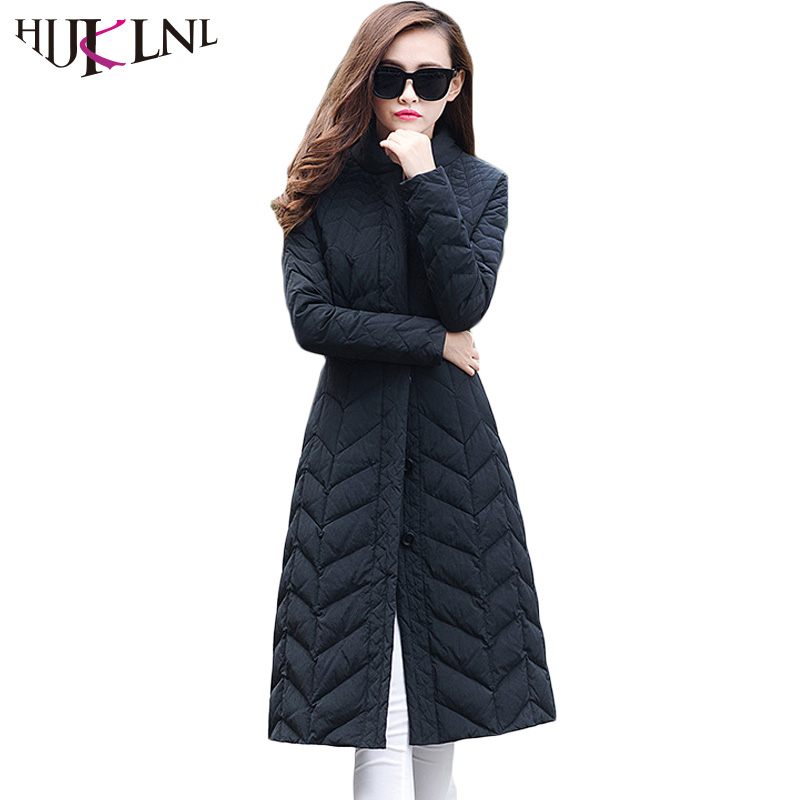 HIJKLNL 2019 Winter Duck   Down     Coat   Women Parkas Long   Down   Jacket For Girl Outwear Jacket Woman Overcoat Casacos Femininos HB219